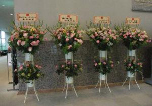 4受付にお花
